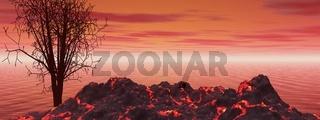 landscape volcano
