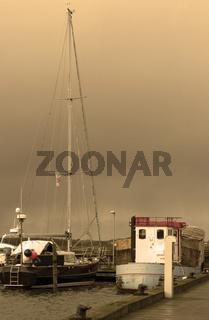 Boat and sailing ship