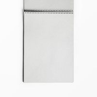Blank open sketchbook