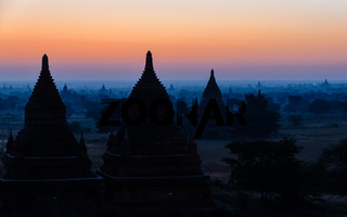 Bulethi Pagoda at sunrise