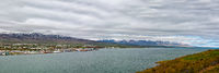 Panoramic view of Akureyri, Iceland