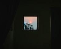 Sunrise seen through a small window