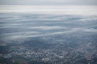 Aerial view of Paris suburbs, France