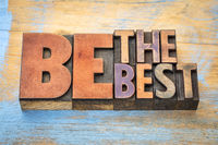 Be the best word abstract in wood type