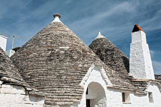 Typical roofs of the Trulli houses in Alberobello, Puglia, Italy