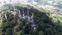 Aerial view on the top of Monkey Hill in Phuket
