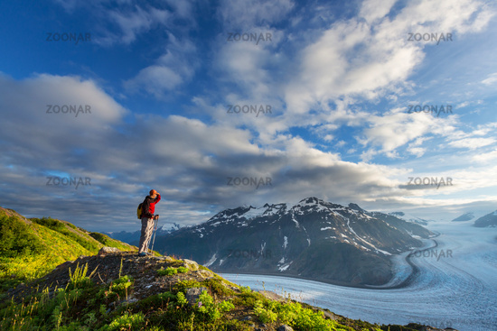 Hike in Salmon glacier