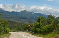 Road in the mountains of Crimean peninsula