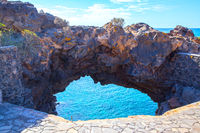 Arch on the coast of Tenerife