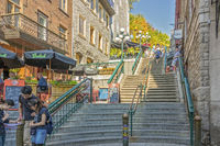 Steps From The Lower Town To The Upper, Quebec City, Canada
