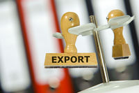 export printed on rubber stamp in office