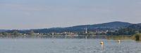Pfaeffikon, village at lake Pfaeffikon, Zurich canton.