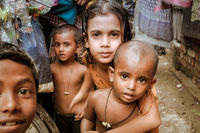 Curious children in Bangladesh