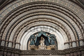 Detail of Orvieto Cathedral (Duomo di Orvieto), Umbria, Italy