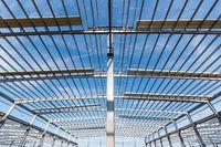 steel structure workshop closeup