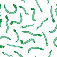 Green Snake Seamless Background. Animal Pattern