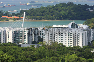 Singapore,Blick auf Sentosa Island