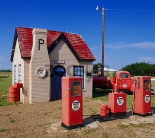 Tankstelle von 1928 in Mc Lean,Texas,Route 66