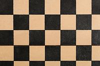 Old empty chessboard