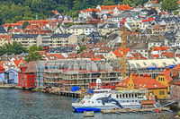 Houses Along The Waterfront Bergen Norway