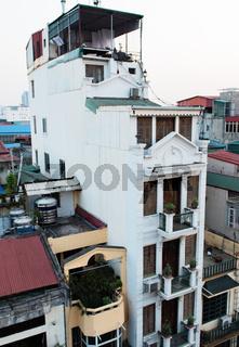 Wohngebäude in der Innenstadt von Hongkong