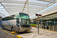 Bus airport terminal. Singapore