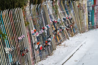 A fence made of skis
