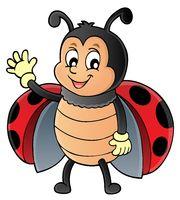 Waving ladybug theme image 1