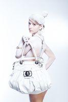 Glamorous white woman, high key