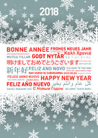 Happy new year greetings card from all the world