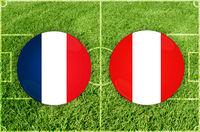 France vs Peru football match