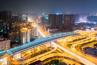 wuhan cityscape night view