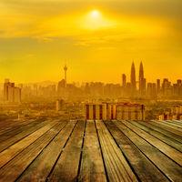 Kuala Lumpur city in hot day