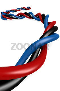Isolated wire on white
