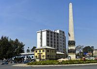 Yekatit 12 Monument auf dem Sidist Kilo Platz, Addis Abeba, Äthiopien