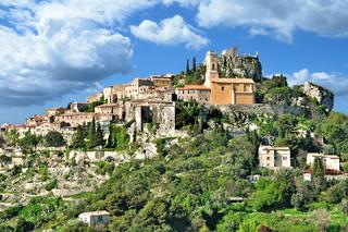 das mittelalterliche Dorf Èze an der französischen Riviera,Cote d`Azur,Frankreich