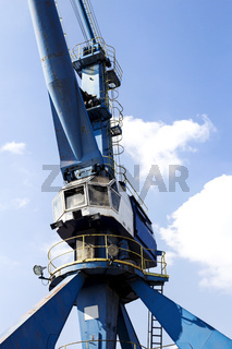 Harbor crane closeup