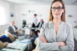 Erfolgreiche und selbstbewusste Start-Up Frau