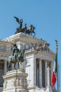 Monument to Victor Emmanuel II in Rome Italy