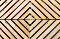 Symmetrical diamond background pattern with wood