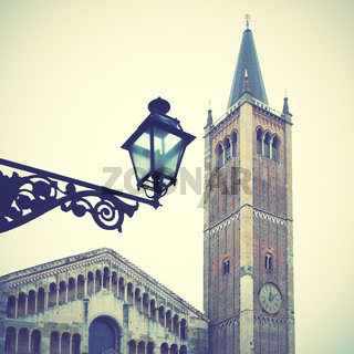 Bell tower of Cathedral in Parma