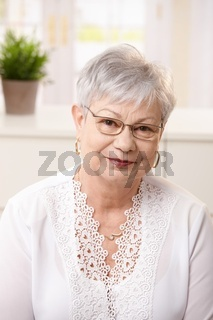 Portrait of senior woman at home
