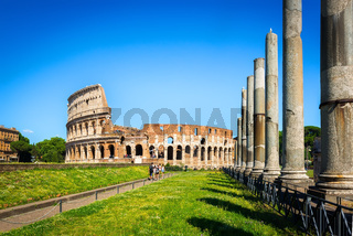 Tourists near Colosseum