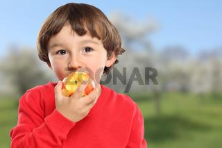 Apfel essen Kind Obst Früchte gesunde Ernährung