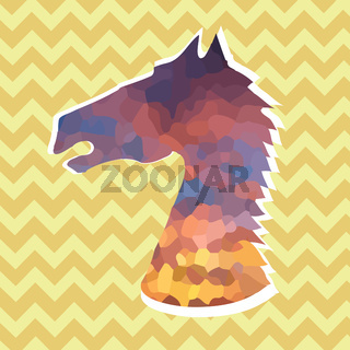Colored Head of Horse Icon
