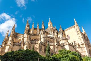 Die Kathedrale von Segovia in Spanien