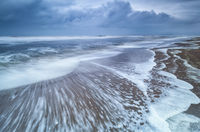 stormy morning on North sea coast