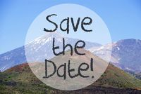 Vulcano Mountain, Text Save The Date