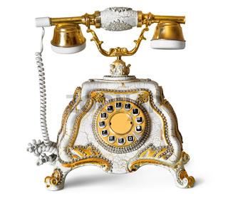 Retro phone isolated