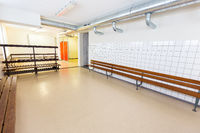 Dutch group dressing room on secondary school